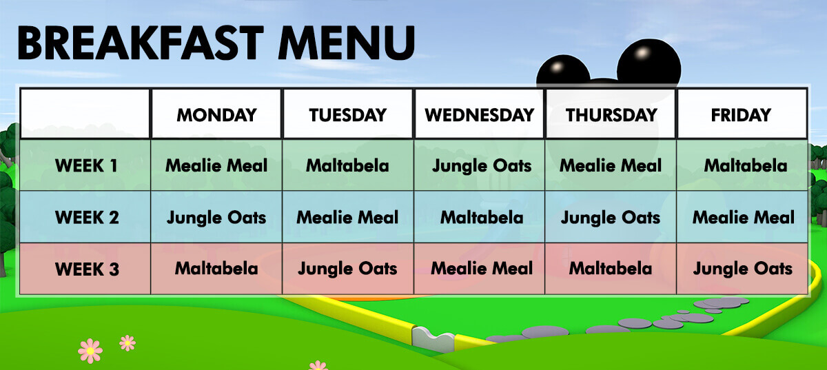 noddy school breakfast menu